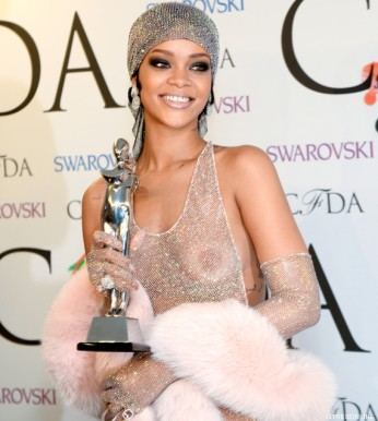 Singer Rihanna at the 2014 CFDA Fashion Awards, on Monday, June 2, 2014 in New York.